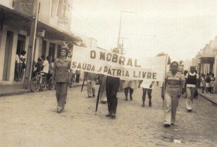 Desfile Cívico de 7 de Setembro, na Av. Alberto Passos, no ano de 1974